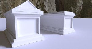 3D medieval tomb