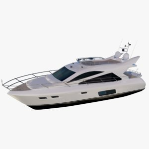 3D model medium yacht florida