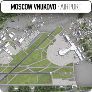 vnukovo international airport - 3D model
