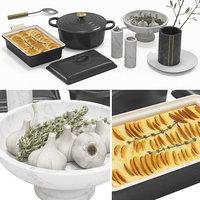kitchen accessories 3D model