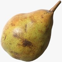 3D model scanned pear