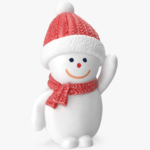 3D snowman figurine knitted hat