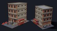 3D model forsaken city tiny pack
