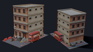 3D model forsaken city tiny pack