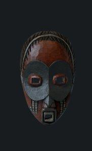 3D model masque africain