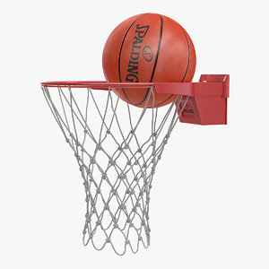 3D spalding basketball bounces ring model