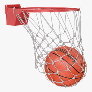 spalding basketball falls net 3D model