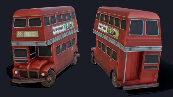 bus london forsaken 3D model