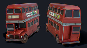 bus london forsaken 3D model