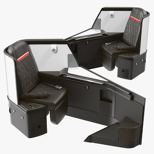 airplane business class seats 3D model