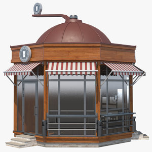 3D coffee shop building