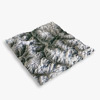 mountain broadpeak 3D model