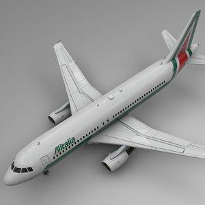 3D alitalia airbus a320 l497