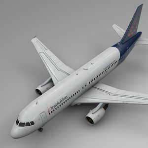 brussels airlines airbus a320 3D model