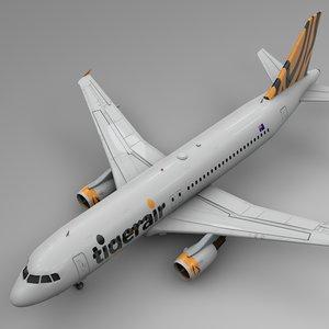tigerair airbus a320 l498 3D