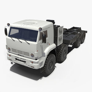 3D winter offroad 8x8 truck model
