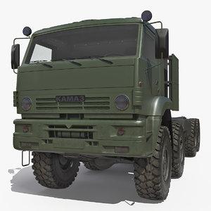 russian offroad truck kamaz 3D model