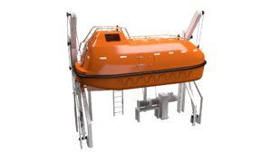 3D fully enclosed lifeboat