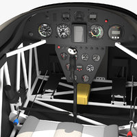 aerobatic aircraft cockpit air 3D model