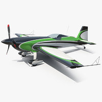 3D aerobatic monoplane aircraft air