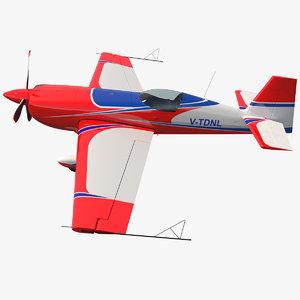 3D aerobatic monoplane extra ea-300 model