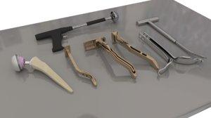 3D medical tools model