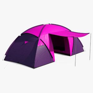 outdoor trekking tent 3D