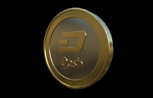 dash cryptocurrency 3D model