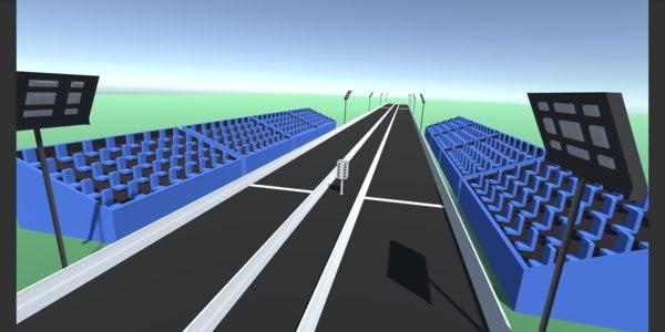 3D model drag strip