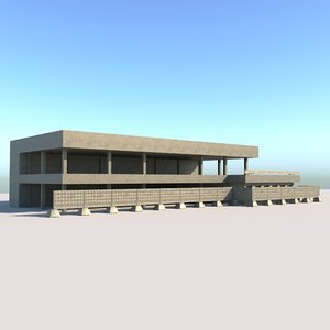 3D model structure bus station