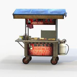 street vendor braised snacks 3D model