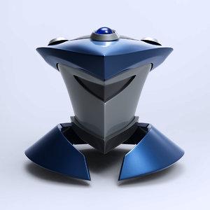 robot head exo 3D model
