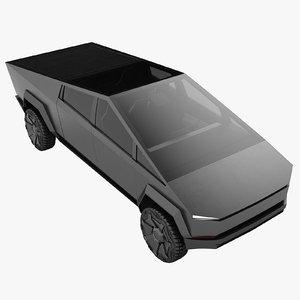 tesla cybertruck truck 3D