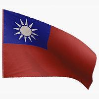 3D flag republic china
