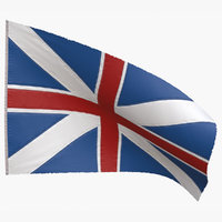 british union jack flag 3D model