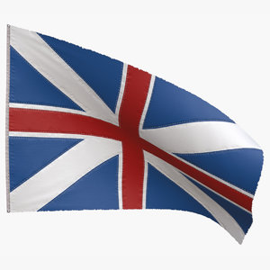 british union jack flag 3D model