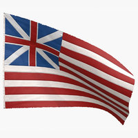 grand old union flag 3D model