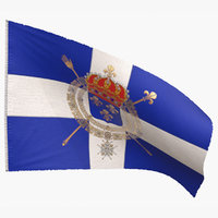 3D naval flag 1365 1792