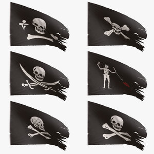 pirate flags 3D