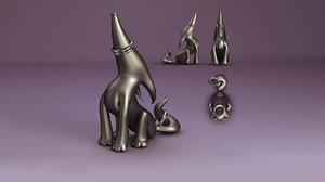 3D model howler ring holder