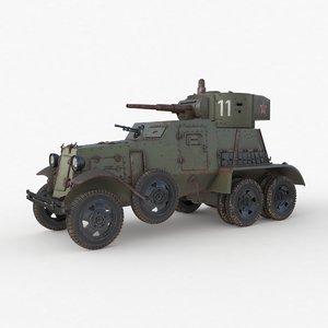 3D ba 6 armored car model