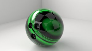 3D bowling ball