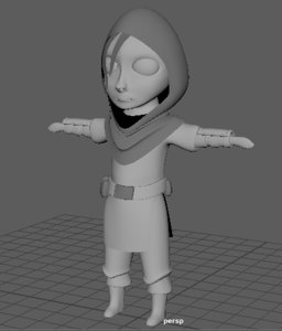 girl vampire 3D model