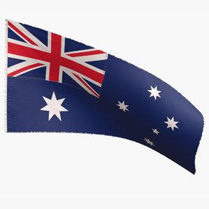 3D model australian flag australia