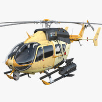 combat helicopter aerial scout 3D