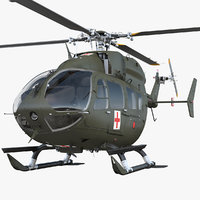 3D eurocopter h-72 lakota helicopter