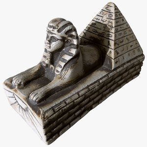 scanned statuette sphinx model