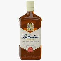 3D realistic ballantine s scotch