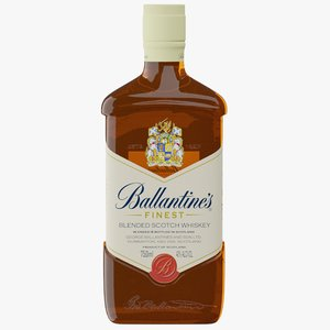 3D realistic ballantine s scotch