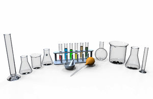 lab glassware set model